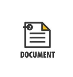 logo document vector image