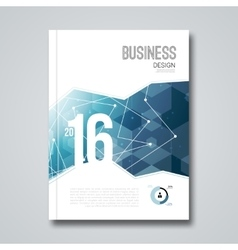 Cover report business colorful blue triangle vector