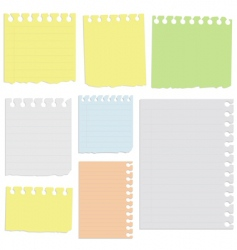 Notepad sheets vector