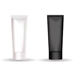 Black white cream tube vector