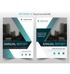 blue label annual report brochure flyer design vector image vector image