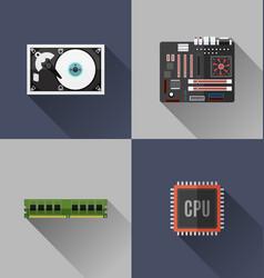 Computer hardware icon vector