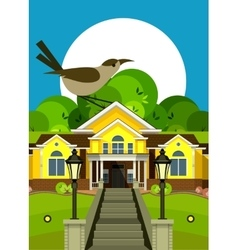 Country cottage flyer vector