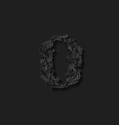 Decorated zero digit vector image vector image