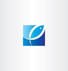 fish jumping out of water logo icon vector image vector image