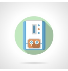 Gas water heater flat color round icon vector