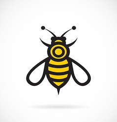 Image of bee design vector