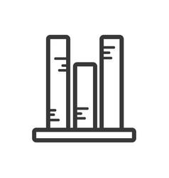 Line statistics bar diagram to business vector
