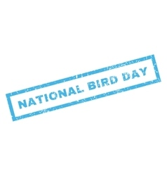 National bird day rubber stamp vector