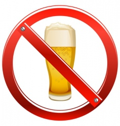 no drinking sign vector image