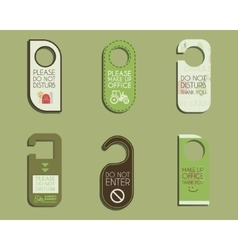 Organic farm shop and other eco business door vector