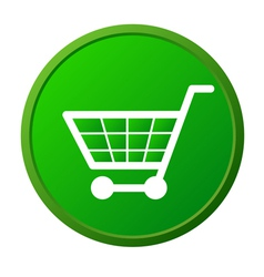 Shopping basket button vector image