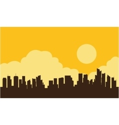 Silhouette of industry and cloud vector