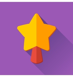Simple Christmas star icon in flat style vector image vector image