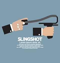Slingshot in hand vector