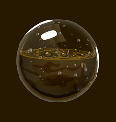 Sphere of mud game icon of magic orb interface vector