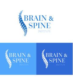 Spine logo template vector