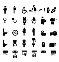 Toilet icons Bathroom vector image