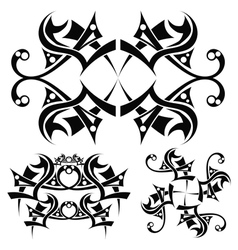 Tribal art design vector