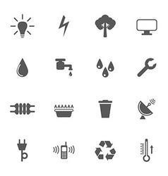 Utilities icon set vector