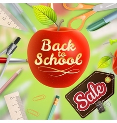 Welcome back to school sale eps 10 vector