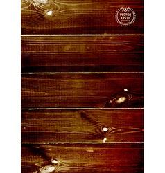 Wood texture natural dark wooden background vector