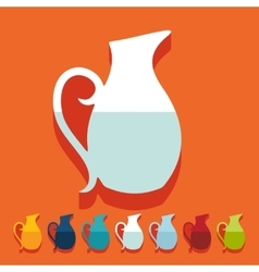 Flat design jug vector