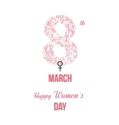 International Happy Women s Day concept vector image