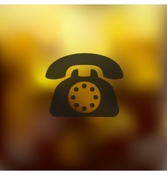 telephone icon on blurred background vector image