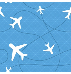 Seamless pattern with plane icons vector