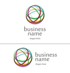 logo ball of yarn vector image