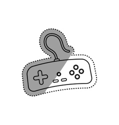 Console gamepad isolated vector