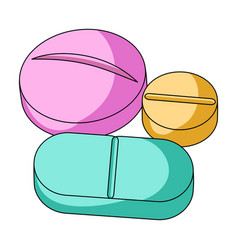 Medicinal tabletsmedicine single icon in cartoon vector