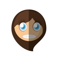 scared emoticon cartoon design vector image