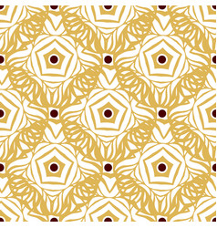 Seamless pattern with gold ethnic ornament vector