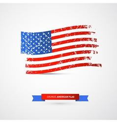 American Flag - Dirty Grunge vector image