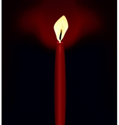 Candle in darkness vector