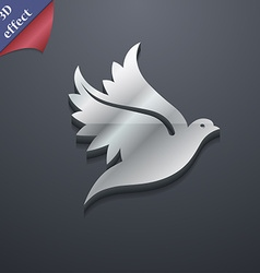 Dove icon symbol 3d style trendy modern design vector