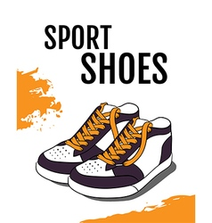 Sport shoes poster vector