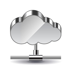 Cloud computing isolated on white vector