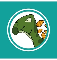 Dinosaur icon design vector