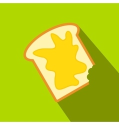 Slice of bread with honey vector