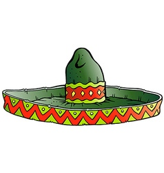 Cartoon of a big mexican sombrero hat vector