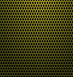 hexagon gold background vector image