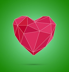 Polygonal heart low poly valentines day vector
