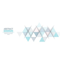 abstract blue triangle line stripe background vector image