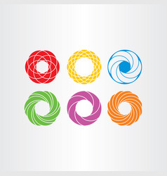 Abstract circle logo business icons set collection vector