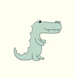 Baby croc cartoon vector