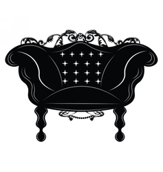 Baroque imperial armchair vector