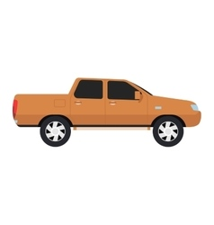 Car pickup truck vechicle vector image